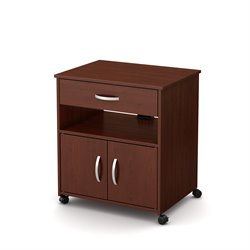 South Shore Axess Microwave Cart in Royal Cherry
