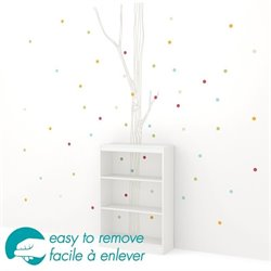 South Shore Axess 3 Shelf Tree and Dots Decal Bookcase in White
