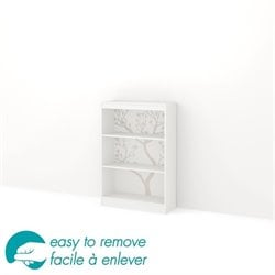 South Shore Axess 3 Shelf Romantic Tree Decal Bookcase in White