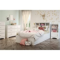 South Shore Callesto 5 Piece Bedroom Set in Pure White