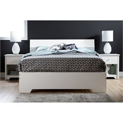 South Shore Vito 3 Piece Queen Platform Bedroom Set