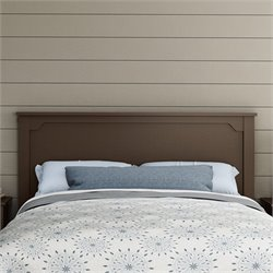 South Shore Fusion Wood Full Queen Headboard in Chocolate