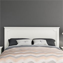 South Shore Fusion Wood Full Queen Headboard in White