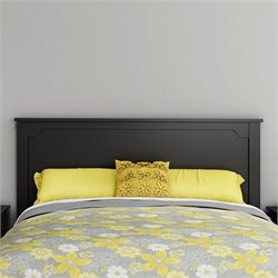 South Shore Fusion Wood Full Queen Headboard in Black