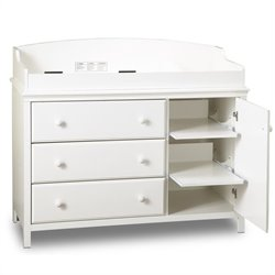 Cotton Candy Changing Table in White
