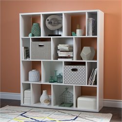 Reveal 16 Cubby Wood Bookcase