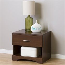 South Shore Step One 1 Drawer Wood Nightstand in Sumptuous Cherry