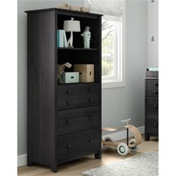 South Shore Little Smileys 3 Drawer Wood Bookcase in Gray Oak