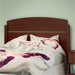 South Shore Libra Wood Full Panel Headboard in Royal Cherry