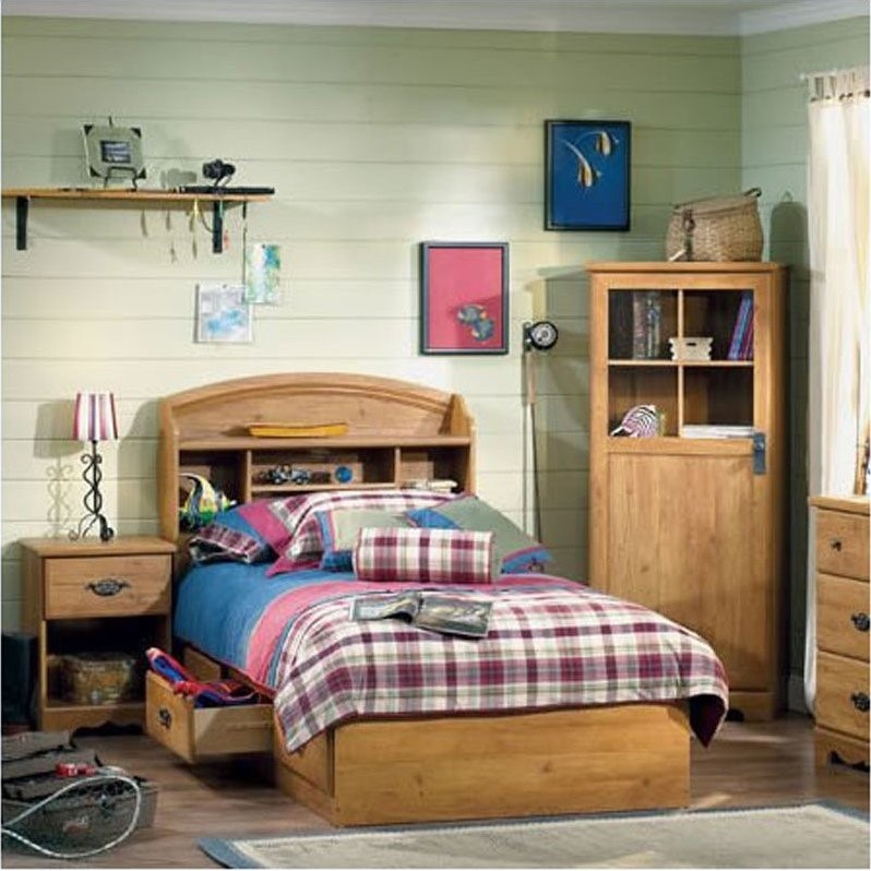 South Shore Prairie Twin Country Pine 3 Piece Kids Bedroom