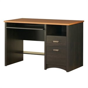 South Shore Gascony Collection Small Wood Computer Desk in Ebony