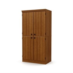 South Shore Morgan 4 Door Storage Cabinet in Morgan Cherry