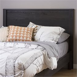 South Shore Fynn Headboard with Storage in Gray Oak