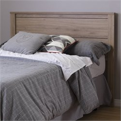 South Shore Fynn Full Headboard with Storage in Rustic Oak