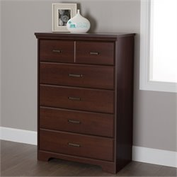 South Shore Versa 5 Drawer Chest in Royal Cherry