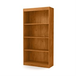 South Shore Axess 4 Shelf Bookcase in Country Pine