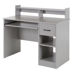 South Shore Axess Computer Desk in Soft Gray