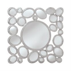 Mirror Masters Orveta Decorative Mirror in Silver and Black