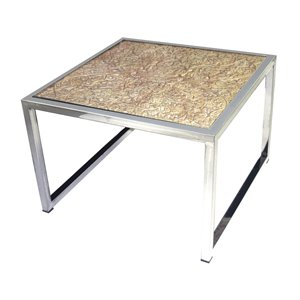 Dimond Home Square Coffee Table in Natural and Stainless Steel