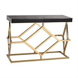 Dimond Home Deco Console Table in Gold Plate and Black
