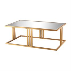 Dimond Home Andy Coffee Table in Gold Leaf