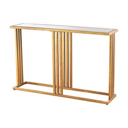 Dimond Home Andy Console Table in Gold Leaf