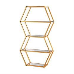 Dimond Home Vanguard Etagere in Gold Leaf