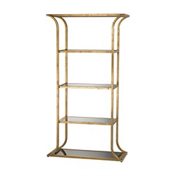Dimond Home Petronas Etagere in Antique Gold Leaf and Black Glass