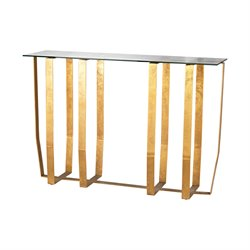 Dimond Home Ankara Console Table in Antique Gold Leaf