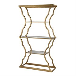 Dimond Home Metal Cloud 4 Shelf Bookcase in Antique Gold Leaf