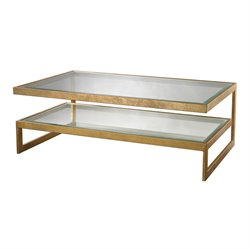 Dimond Home Key Coffee Table in Antique Gold Leaf