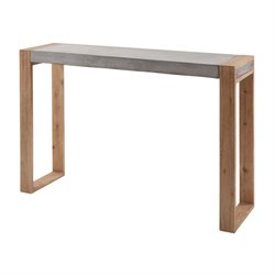 Dimond Home Paloma Console Table in Concrete and Atlantic Brushed