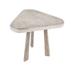 Dimond Home Candy End Table in Polished Concrete and Atlantic