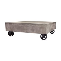 Dimond Home Jigger Square Coffee Table in Waxed Concrete and Rust