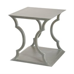 Dimond Home Mahogany Cloud End Table in Gray Wood