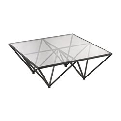 Dimond Home Geometric Square Coffee Table in Dark Bronze