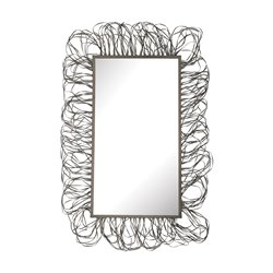 Dimond Home Scribble Frame Decorative Mirror in Pewter