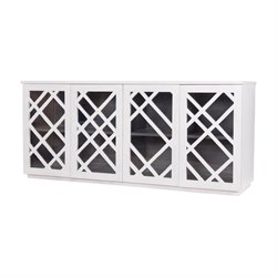 Dimond Home Plaid Sideboard in White