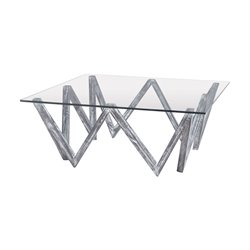 Dimond Home Gehring Square Coffee Table in Restoration Gray