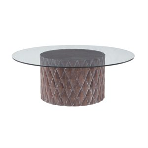 Dimond Home Coco Round Coffee Table in Restoration Gray