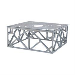 Dimond Home Bain Square Coffee Table in Antique Smoke
