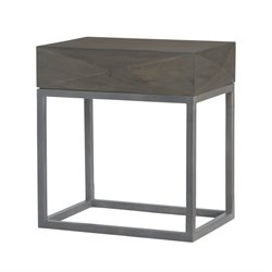 Dimond Home Elizabeth End Table in Gray and Garden Gate