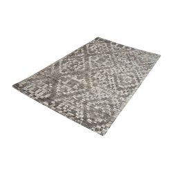 Dimond Home Darcie 3' x 5' Wool Rug in Iron Ore Gray and Cream