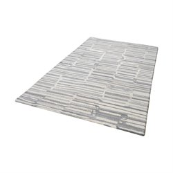 Dimond Home Slate 3' x 5' Wool Rug in Gray and White