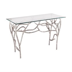 Dimond Home Metropolitan Console Table in Polished Nickel