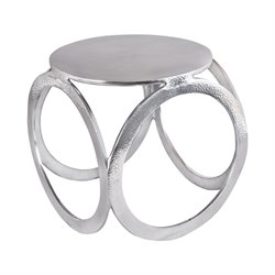 Dimond Home End Table in Aluminium