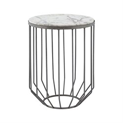 Dimond Home Helm End Table in Zinc