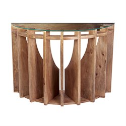 Dimond Home Sundial Console Table in Natural Mango