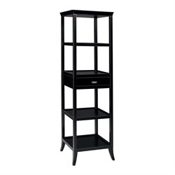 Sterling Tamara 4 Shelf Bookcase in Ebony