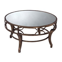 Sterling Treviso Mirrored Coffee Table in Antique Gold